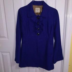 Old Navy royal blue wool blend winter coat